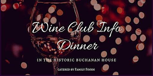 Dinner In The Historic Buchanan House