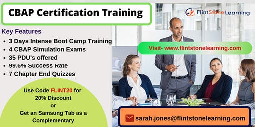 CBAP Certification Classroom Training in Arnold, CA