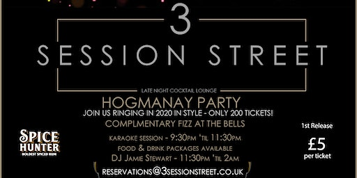 Hogmanay Party -  3 Session Street