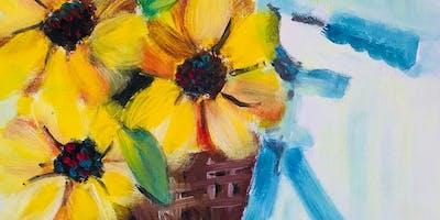 Paint Night in Bondi: Sunflowers