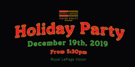 Royal LePage Vision Holiday Party 2019 tickets
