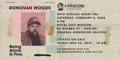 Hillside Inside 2020 presents DONOVAN WOODS with special guest TBA