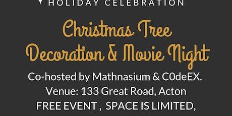 Christmas Tree Decoration & Movie Night tickets