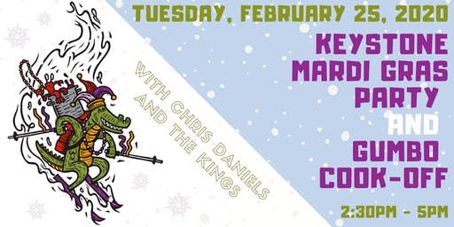 Keystone 2020 Mardi Gras Party ft. the River Run Gumbo Cook-Off