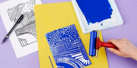 Creative Reuse Workshop: Relief Printmaking w/ Styrofoam Trays (Ages 3-10) tickets