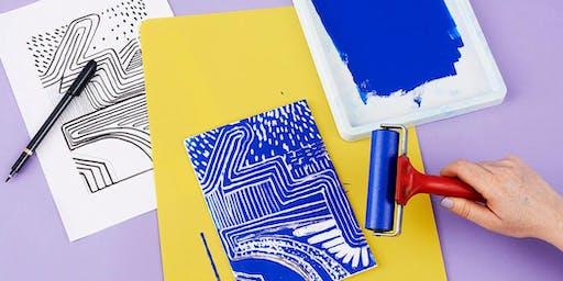 Creative Reuse Workshop: Relief Printmaking w/ Styrofoam Trays (Ages 3-10)