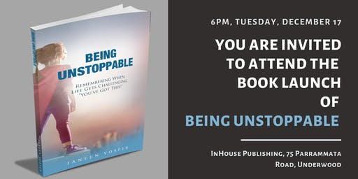 Invitation to Attend the Book Launch of 'Being Unstoppable'