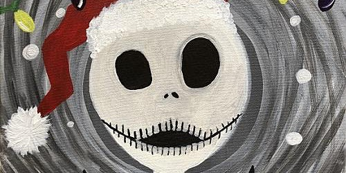 "Recreate this Nightmare Before Christmas painting, ""Jack's Christmas"""