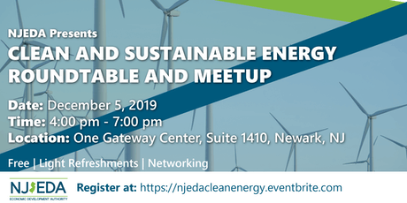 Clean and Sustainable Technology Roundtable and Meetup tickets