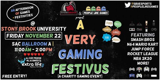 Stony Brook Esports & People Like Games present A Very Gaming Festivus