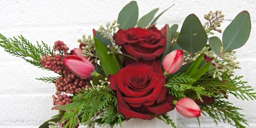Blossoms and Brews Holiday Centerpiece Floral Arranging Workshop