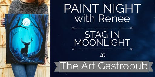 Paint Night With Renee: Stag In Moonlight