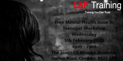 Mental Health Issues in Teenagers Workshop