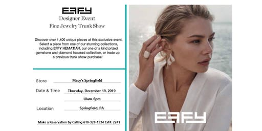 Designer Jewelry Effy Trunk Show Event