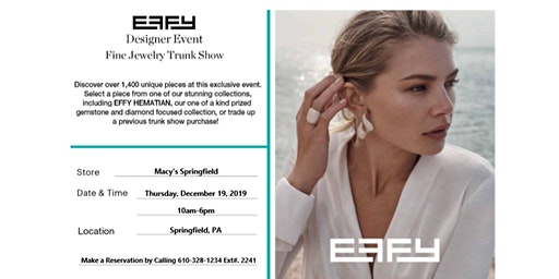 Designer Jewelry Effy Trunk Show Event