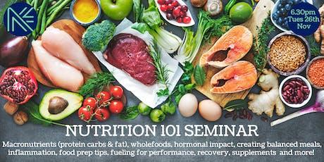 Nutrition 101 Seminar tickets