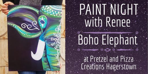 Paint Night With Renee: Boho Elephant