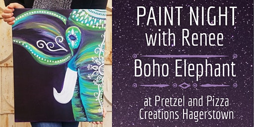 Paint Night With Renee: Boho Elephant