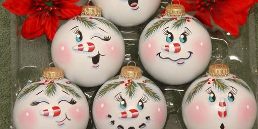 Christmas Ornament Paint and Sip
