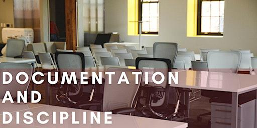 Documentation and Discipline - A Human Resources Workshop