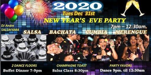 2020  NYE Party Salsa Bachata Merengue Cumbia!