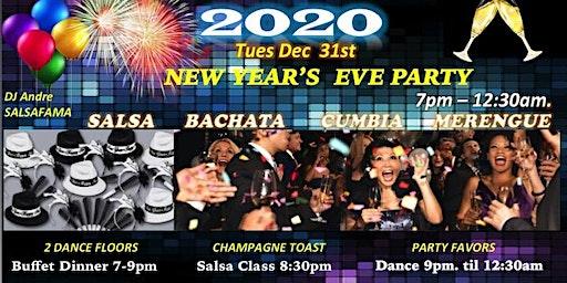 2020  NYE Party Salsa Bachata Merengue Cumbia Temecula!