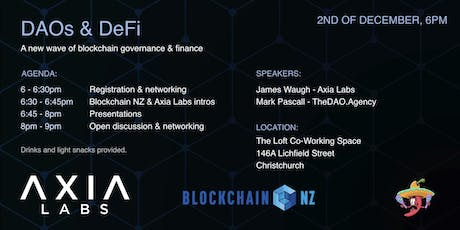 Decentralized Finance & Governance - New ways to Coordinate Society (CHCH) tickets