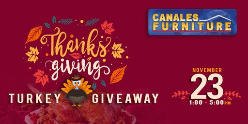Canales Furniture Turkey Giveaway!