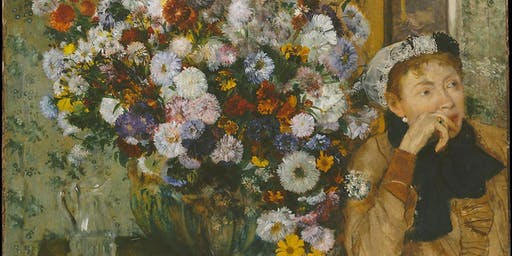 Learn to Paint Like the Masters: Edgar Degas: Woman Seated Beside a Vase