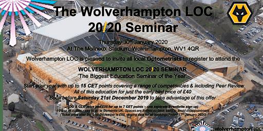 The Wolverhampton LOC 2020 Education Seminar - Optometrist Registration