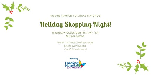LOCAL FIXTURE HOLIDAY SHOPPING PARTY