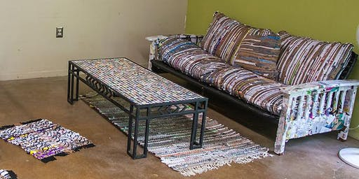 Upcycled Tapestry: Learn the Basics of Frame Loom Weaving Scrap Materials