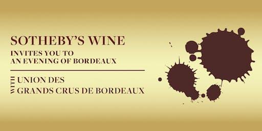 Sotheby's Wine x Union des Grands Crus de Bordeaux – 20 January 2020