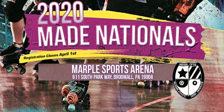 MADE Roller Derby National Championships  2020 - Registration tickets