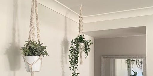 Beginners Macrame Plant Hanger Workshop