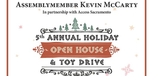 Assemblymember McCarty's 5th Annual Holiday Open House & Toy Drive