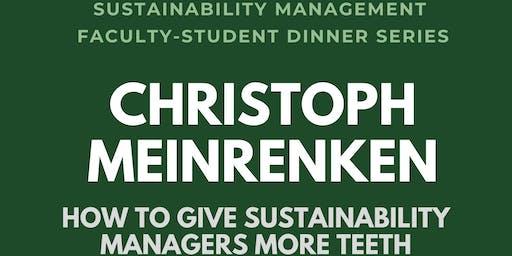SUMA Faculty/Student Dinner Series: Christoph Meinrenken