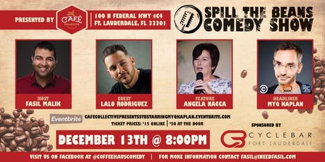Spill The Beans Comedy Show Starring Myq Kaplan (Conan & The Tonight Show) tickets