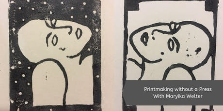 Printmaking without a Press with Maryika Welter (1 Day) tickets