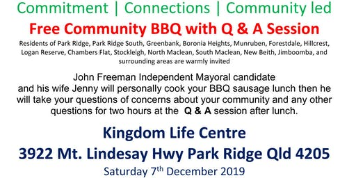 "FREE Community BBQ and ""Meat & Grill"" Q & A forum"