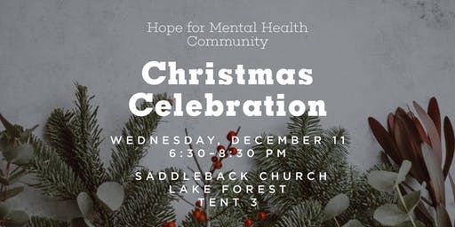 Hope for Mental Health Community Christmas Party
