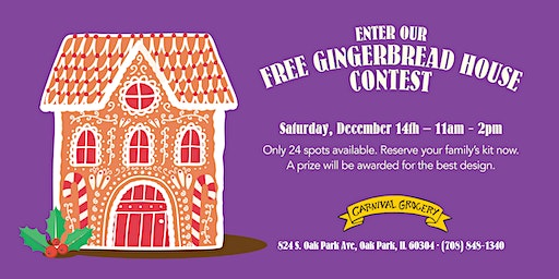 Carnival Grocery Gingerbread House Contest