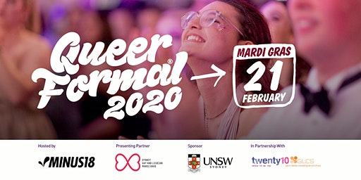 Minus18 Queer Formal Sydney: Mardi Gras 2020