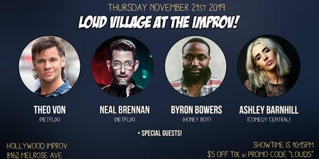 FREE COMEDY TIX: Theo Von, Neal Brennan + more at the Improv! tickets