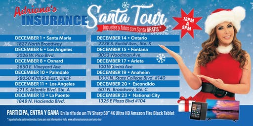 Adriana's Insurance- Santa Tour Palmdale