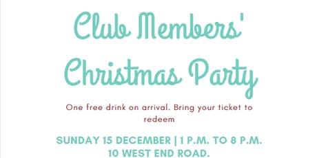 Herne Bay Ponsonby Rackets Club Members' Christmas Party tickets