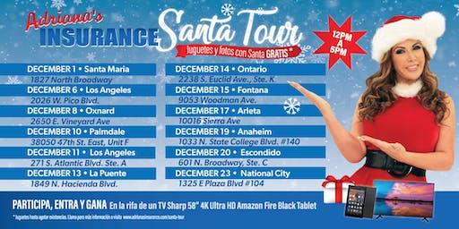 Adriana's Insurance- Santa Tour Anaheim