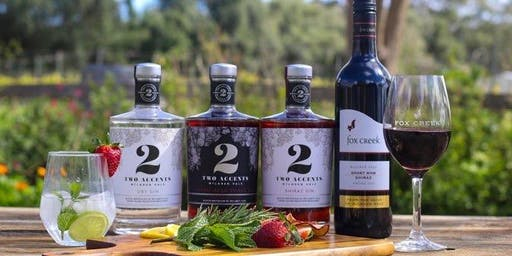 Two Accents Gin Tasting Flights at Fox Creek Wines