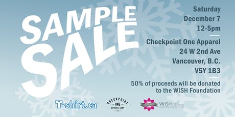 Checkpoint One Apparel Sample Sale tickets