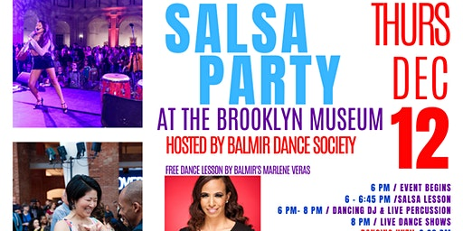 Free Salsa Dance Party at The Brooklyn Museum